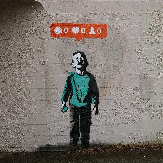 banksy social media